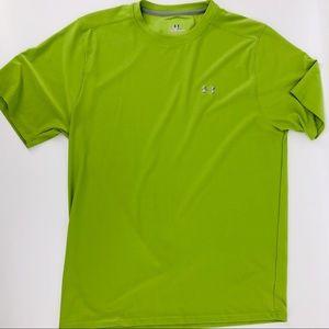 Under armour  men's green T-shirt medium